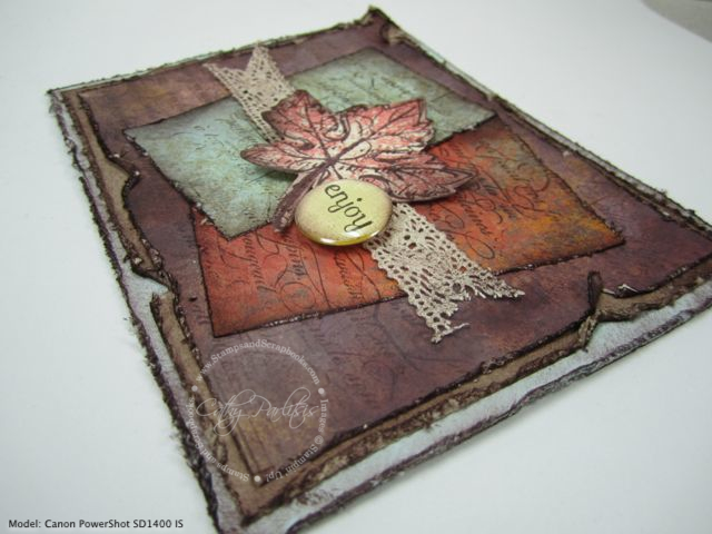 Distressed Leaf Card