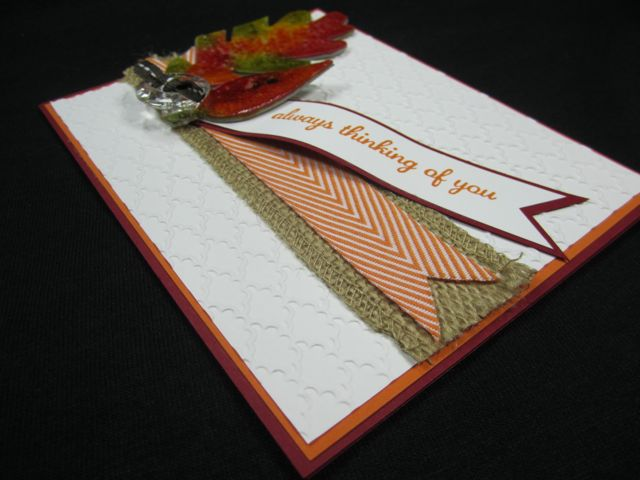 Crackle Paint Leaf Card