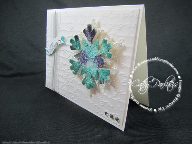 Crackle Paint Snowflake Card