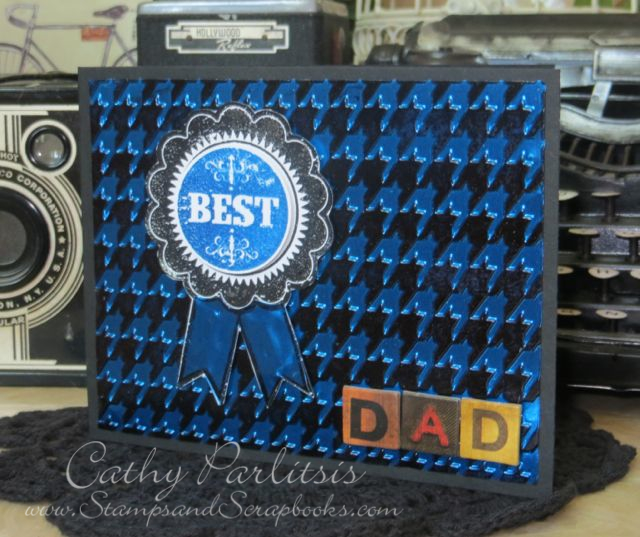 Father's Day Card with Metal