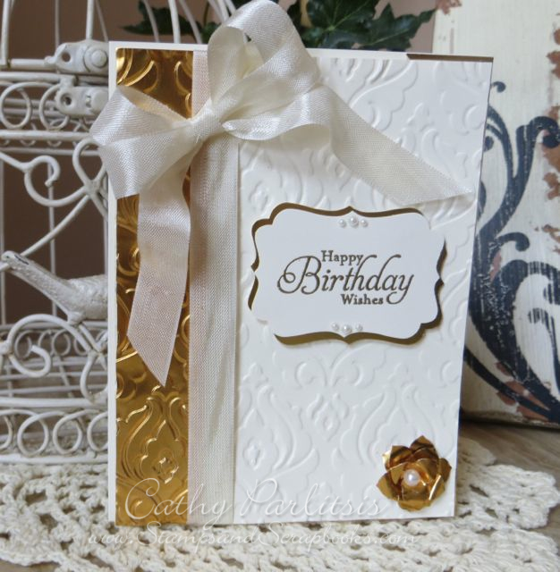 Gold Metal Birthday Card