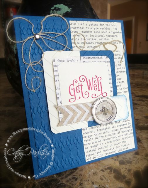 Masculine Get Well Card Side