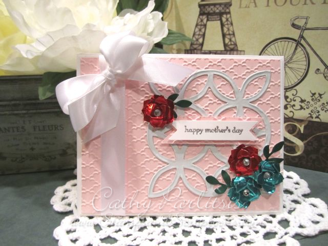 Mother's Day Card with Metal