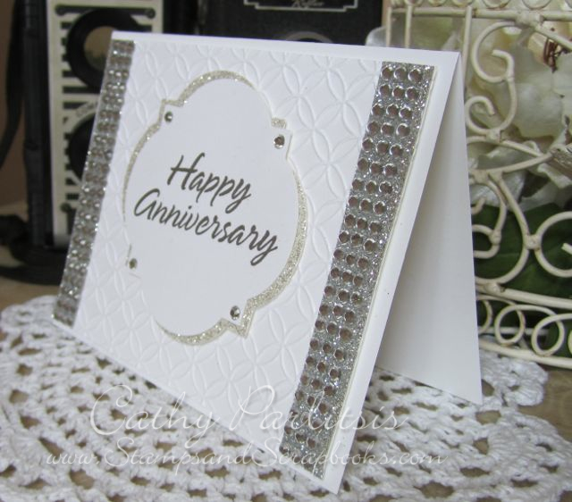 www.StampsAndScrapbooks.com_Happy Anniversary Card with Bling