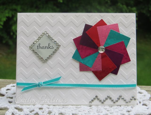 Thank You Card with Metal and Chevron