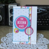 Clean and Simple Tall and Skinny Card
