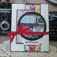 Camera Card with Embossing Folder