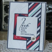 Clean and Simple Masculine Card with Maritime Paper