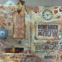 Time Art Journal Pages with Distress Stains