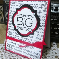 Thank You Card with Word Background