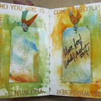 Art Journal Pages with Archival Inks and Alcohol