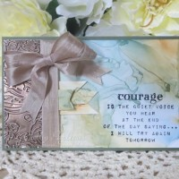 Courage Card with Alcohol Background