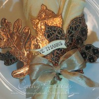 Craft Metal Leaves Napkin Ring for Blog Hop Day 1