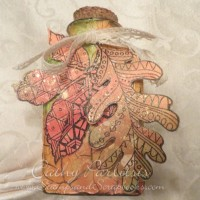 Crackled Embossing Paste Jar-Blog Hop Day 2