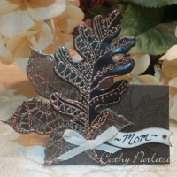 Craft Metal Leaves Place Card - Blog Hop Day 3