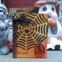 Craft Metal Pumpkin Halloween Card