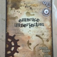 Distressed Art Journal Page Embrace Imperfection