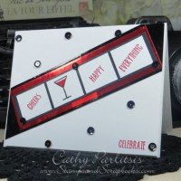 Clean and Simple Celebrate Card with Craft Metal