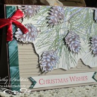 Ornamental Pine Card with Craft Metal and Glitter