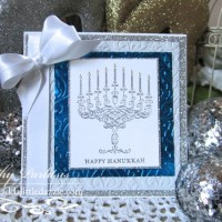 Happy Hanukkah Metal Embossed Card