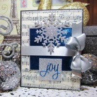 Wintery Christmas Card with Craft Metal and Glimmer Snowflake