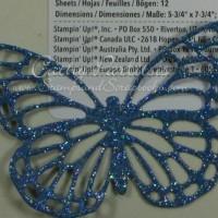 Easy Glittered Butterfly Thinlit Die