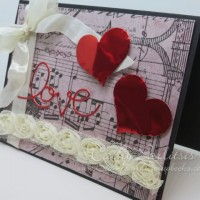 Love and Roses Valentine Card with Craft Metal Hearts