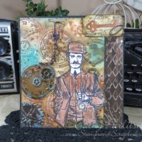 Time Traveler Masculine Card with Craft Metal