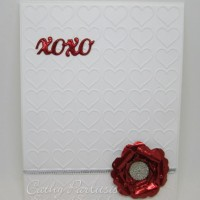 Valentine Card with Scarlet Red Craft Metal