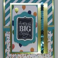 Chalk Talk Gold Birthday Card