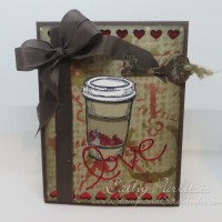 Perfect Blend Coffee Valentine Shaker Card