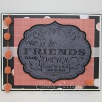 Forever Friends Card with ColorBox Chalk Inkpad