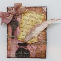 Shabby Chic Love Letter Valentine Card