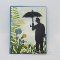 Butterfly Basics Umbrella Man Metal Spotlight Card