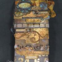 Cascading Vintage Mini Scrapbook