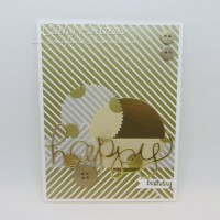 Gold Masculine Happy Birthday Card