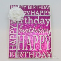 Happy Happy Birthday Background Card with Craft Metal