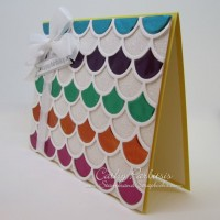 Scalloped Multicolor Craft Metal Glimmer Card