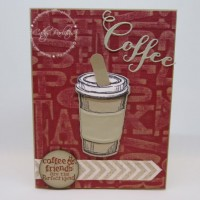 Distressed Coffee Craft Metal Card