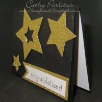 Glittering Star Graduation Card