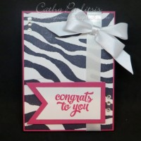 Zebra Congratulations Card