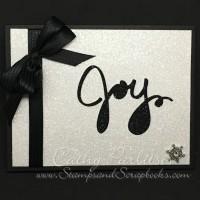 Super Shimmery Holiday Joy Card