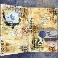Textured Art Journal Pages for ITAC17