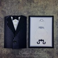 Wedding Card Tux and Dress